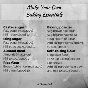 MYO baking essentials