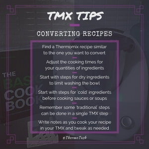 TMX TIPS_Convertin recipes