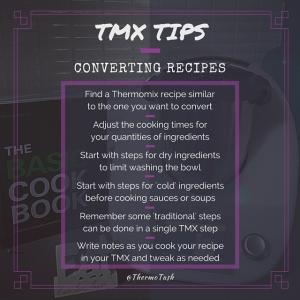 TMX TIPS_Convertin recipes
